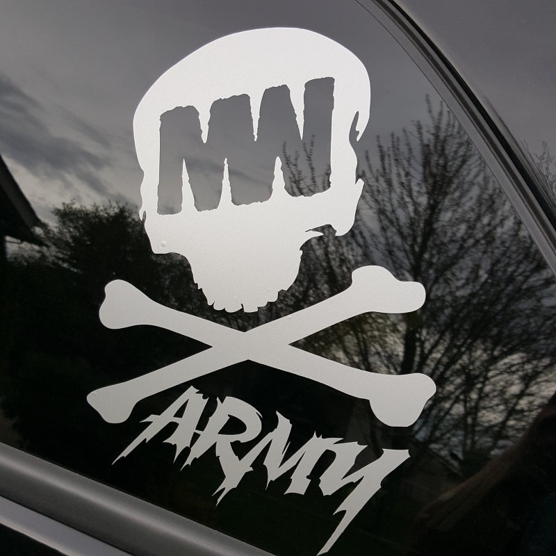 Large MW Army Car Decal