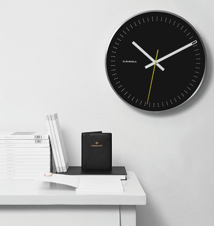 Objective Black Wall Clock