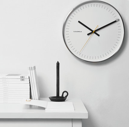 Objective White Wall Clock