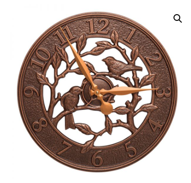 Woodridge Bird Indoor/Outoor Wall Clock