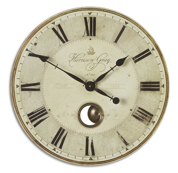 Harrison Gray Pendulum Wall Clock