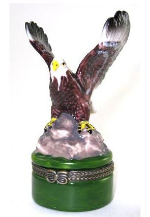 Bald Eagle Ceramic Box