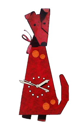 Red Dog Pendulum Wall Clock