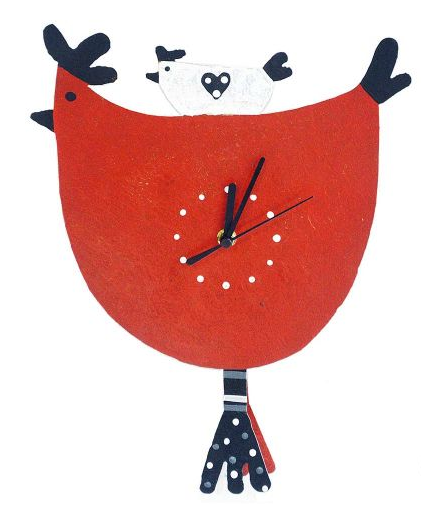 Red Hen Pendulum Wall Clock