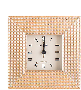 Gold Ribbed Picture Frame A;larm Clock