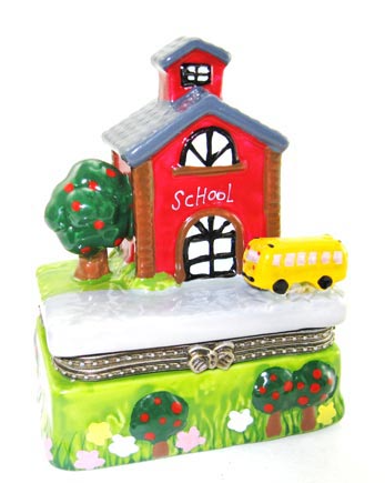 School House Ceramic Box