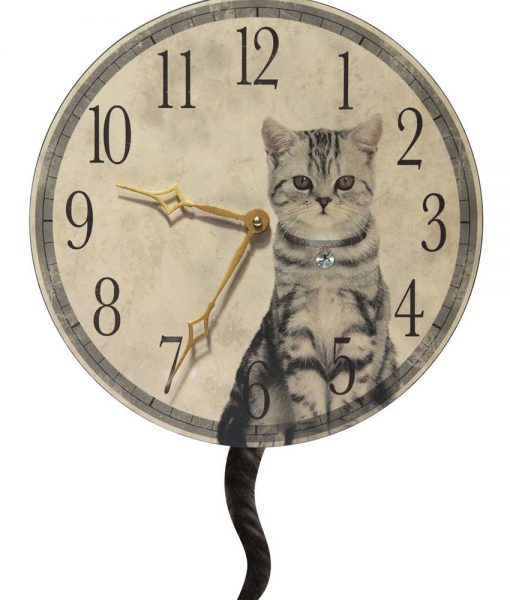 Purrfect Timing Pendulum Wall Clock