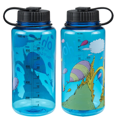 Dr. Seuss Oh the Places You'll Go Water Bottle