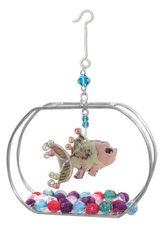 Gold Fish Bowl Indoor Hanging Decoration
