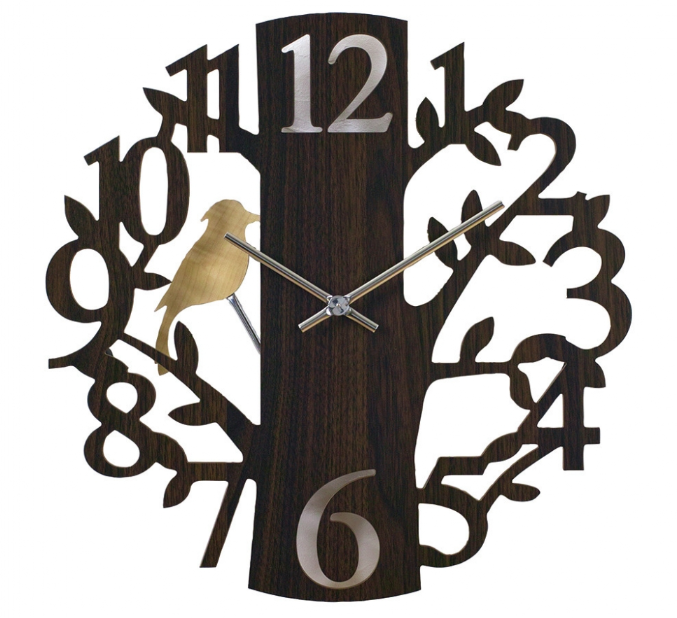 EDGE Pendulum Wall Clock Forest Brown