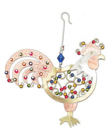 Rise and Shine Rooster Indoor Hanging Decoration