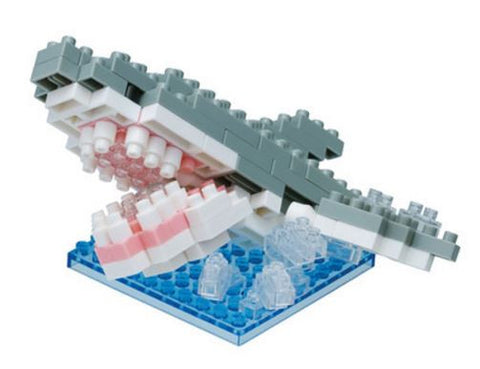 Biting Great White Shark Nanoblock Kit