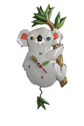 Koolah Koala Pendulum Wall Clock