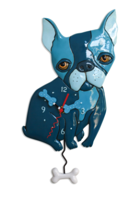 Le Bleu Dog Pendulum Wall Clock