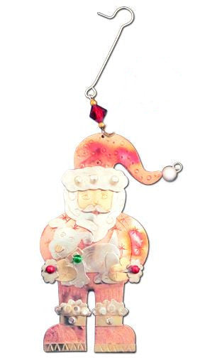 Santa's Puppies Indoor Hanging Decoration