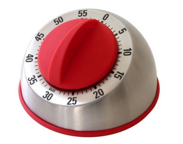 Red Stainless Steel Kitchen Timer
