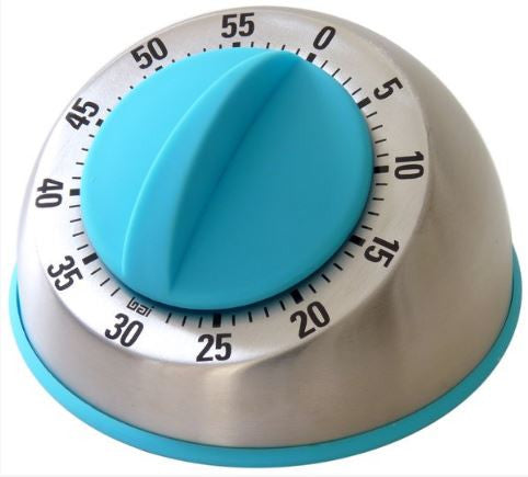 Teal Stainless Steel Kitchen Timer