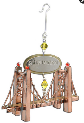 3D Golden Gate Hanging Decoration