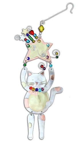 Paws Up Cat Hanging Decoration