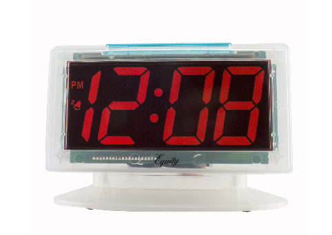 LED Clear Digital Alarm Clock