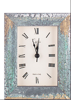 Light Blue Rustic Picture Alarm Clock