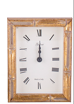 Gold Bamboo Picture Frame Alarm Clock