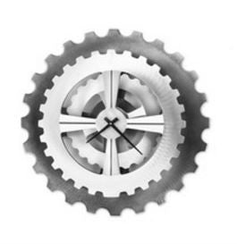 Silver Cog Wall Clock