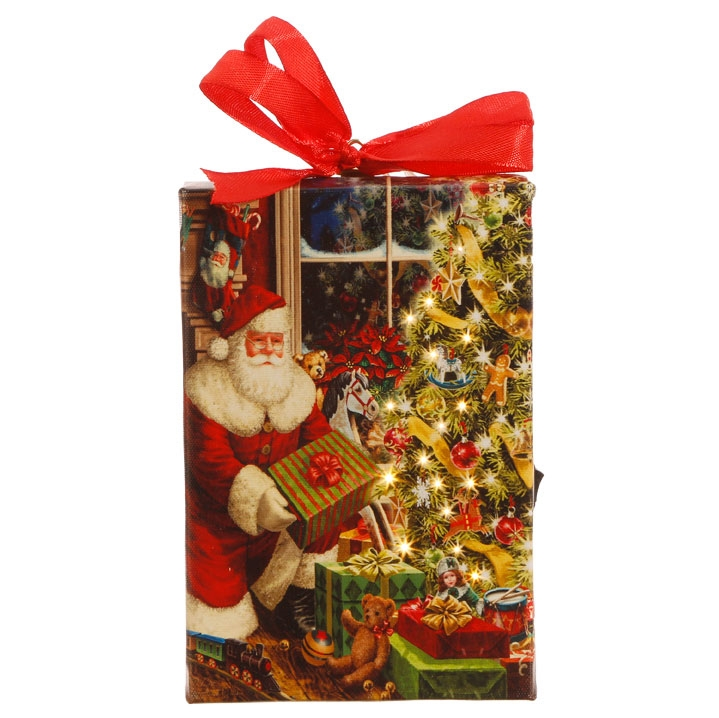 Santa with Presents Printed Ornament