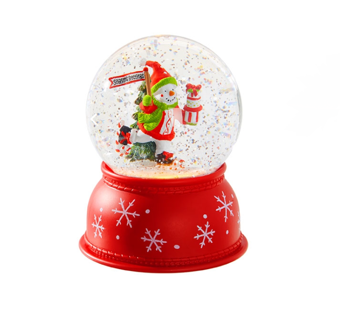 Snowman Lighted Snow Globe