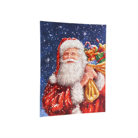 Santa Lighted Print