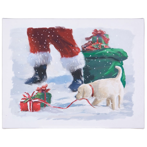 Puppy Presents Lighted Print