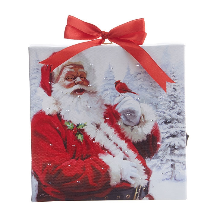 Santa Lighted Print with Easel Back