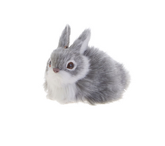 Grey Bunny Ornament