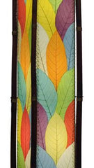 Fortune Extra Large Real Leaves, Sustainable, Fair-trade Multicolor Floor Lamp