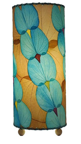Butterfly Real Leaves, Sustainable, Fair-trade Sea-Blue Table Lamp
