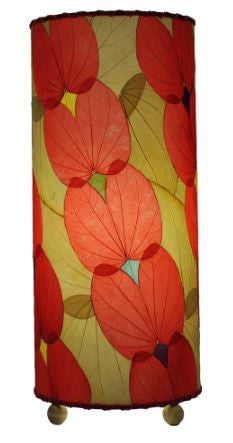Butterfly Real Leaves, Sustainable, Fair-trade Red Table Lamp