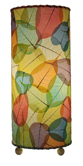 Multi-color Banyan Real Leaves, Fair-trade, Sustainable, Table Light