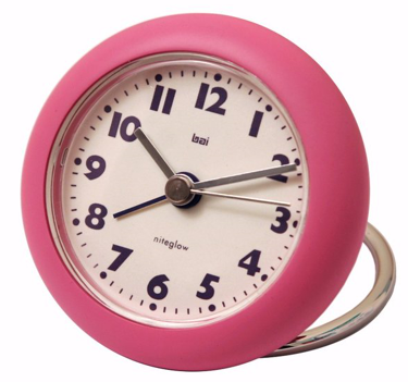 Rondo Pink Travel Alarm Clock