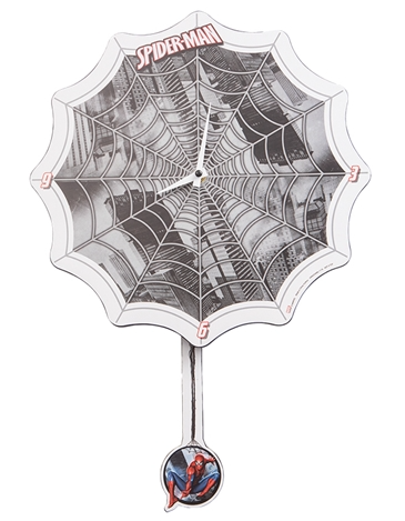 Spiderman Pendulum Wall Clock