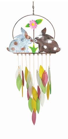 Spring Bunnies Wind Chime