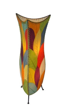 Flowerbud Real Leaves, Sustainable, Fair-trade Multicolor Table Lamp