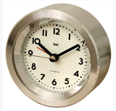Astor Landmark Aluminum Travel Alarm Clock