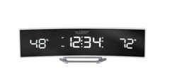 Curved LED Alarm Clock