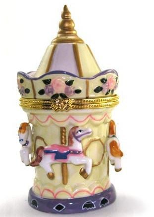 Horse Carousel Ceramic Box
