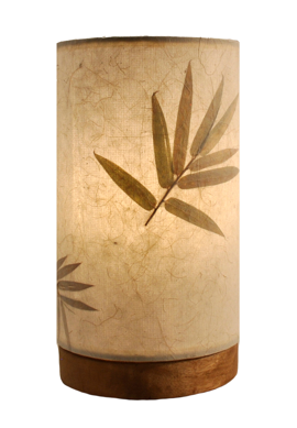 Bamboo Paper Cylinder Mini Lamp