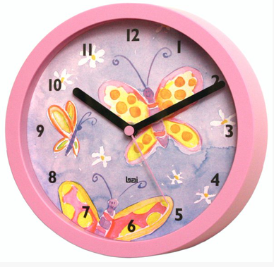 Butterfly Children's Wall Clock
