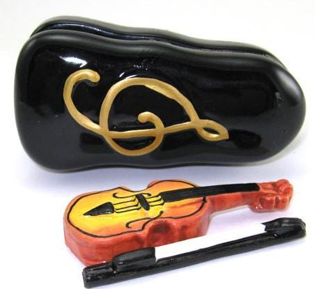 Violin in Case Ceramic Box