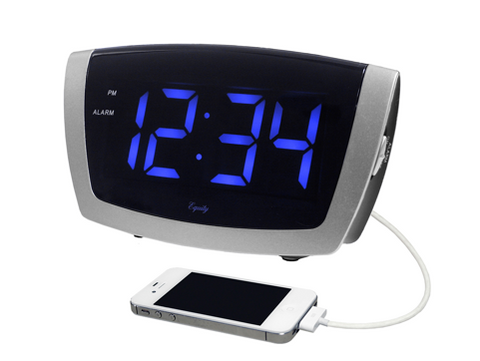 Jumbo Blue LED Alarm Digital Clock