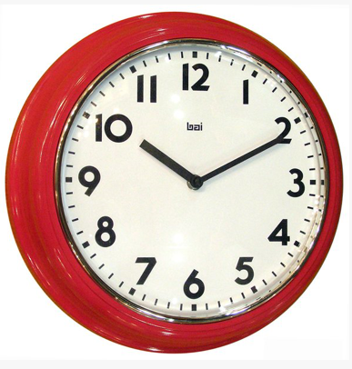 Retro Red School Wall Clock