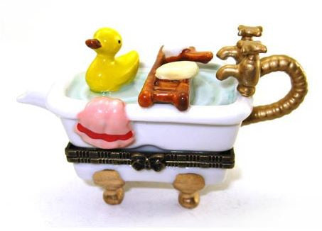 Rubber Duckie in Bathtub Ceramic Box